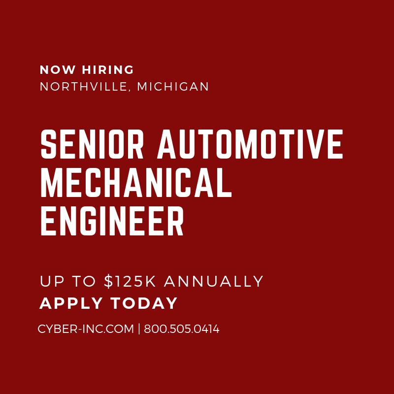 Senior Automotive Mechanical Engineer