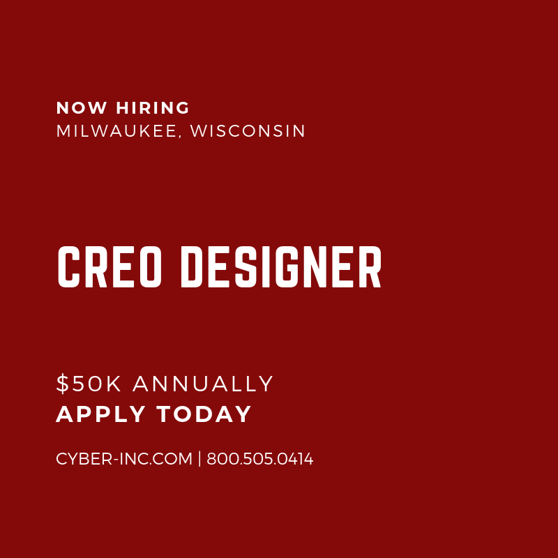 Creo Designer Wanted Milwaukee (Alt Text)