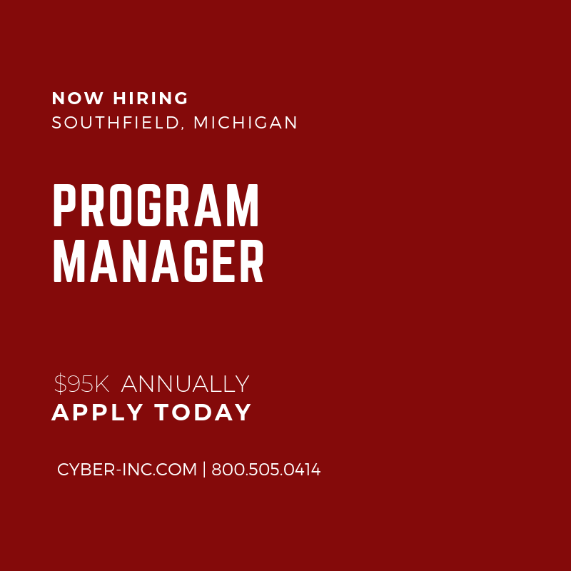 Program Manager Automotive Southfield MI