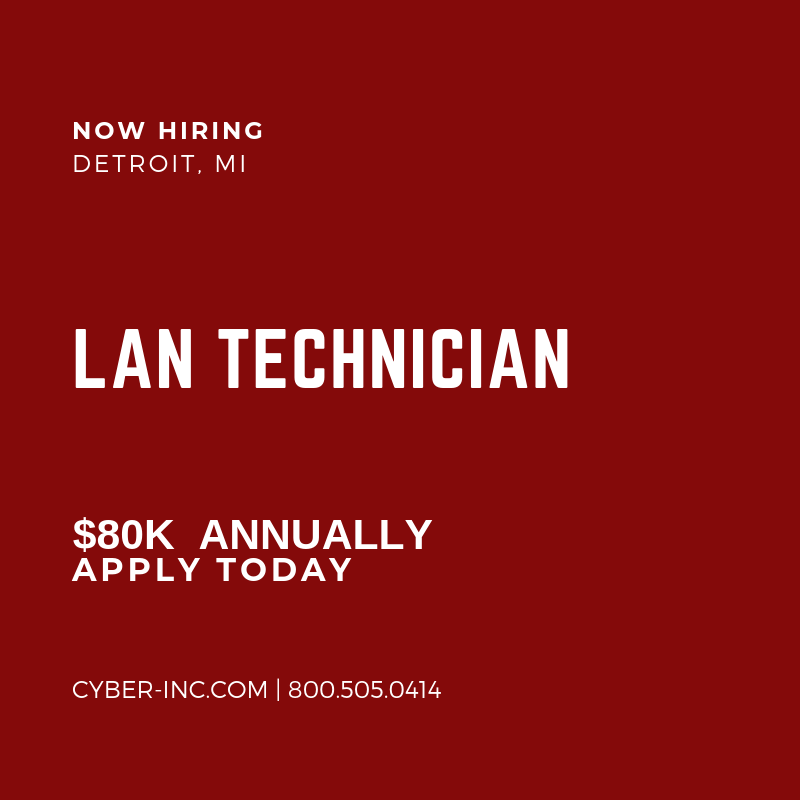 LAN Technician Detroit
