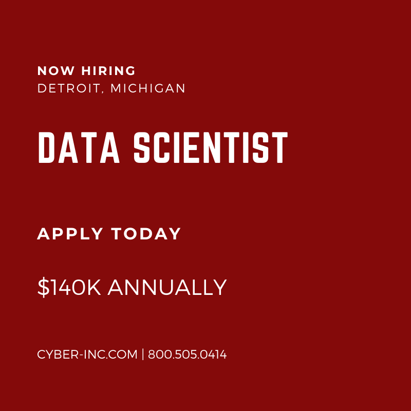 Data Analyst Detroit with Fortune 500 Employer