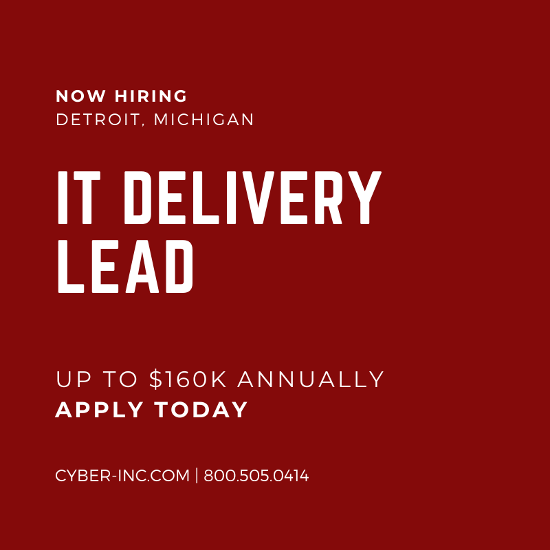 IT Delivery Lead for Downtown Detroit, MI