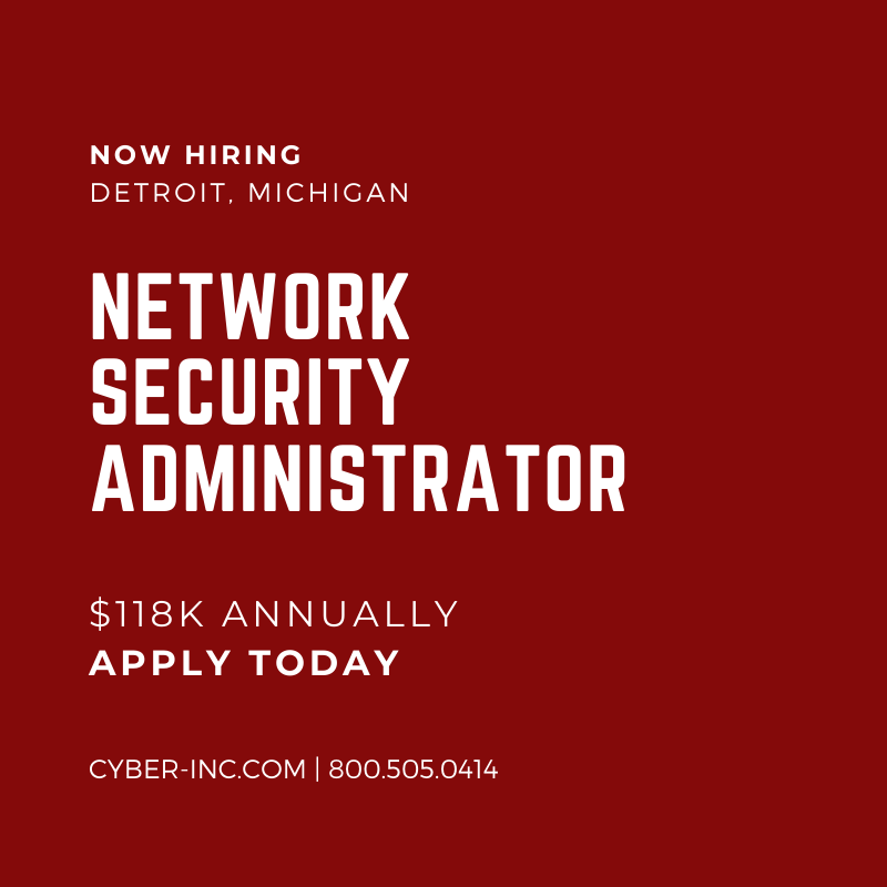 Network Security Administrator Detroit MI