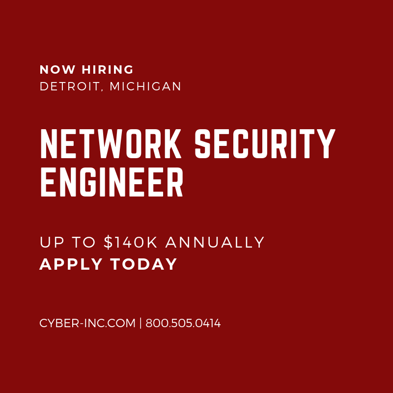 Network Security Engineer Detroit MI