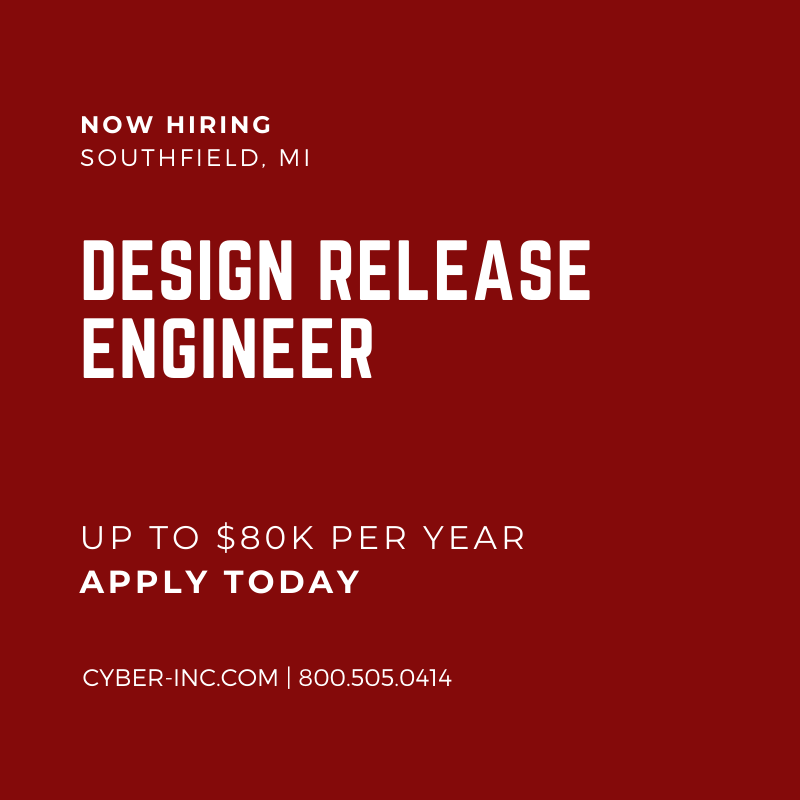 Design Release Engineer (DRE) for Automotive Data Cables Southfield, MI