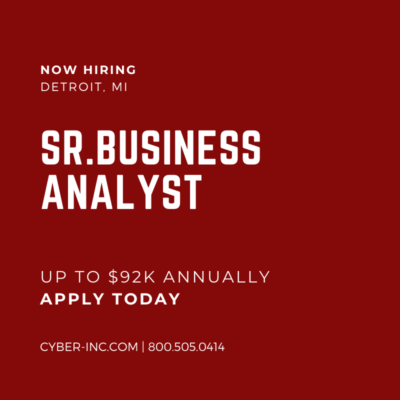 Senior Business Analysts wanted with SAP HANA experience for opportunity with downtown Detroit employer