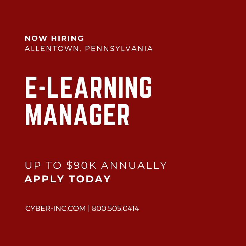 E-Learning Manager Allentown PA Fortune 500 HQ