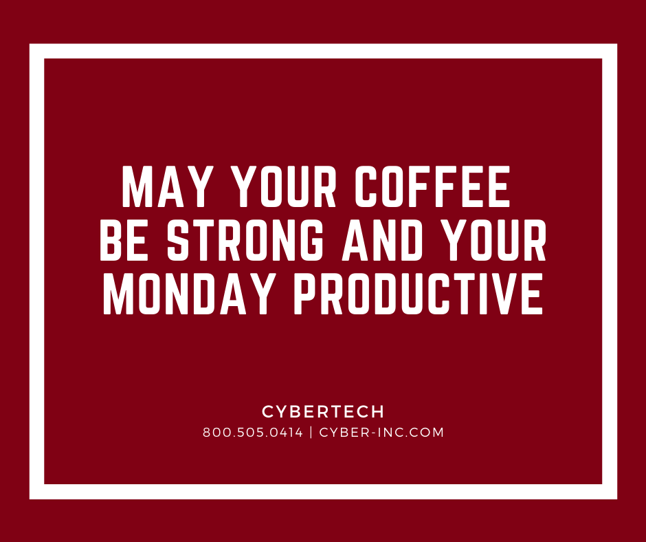 Monday Motivation Coffee as Productivity Tool