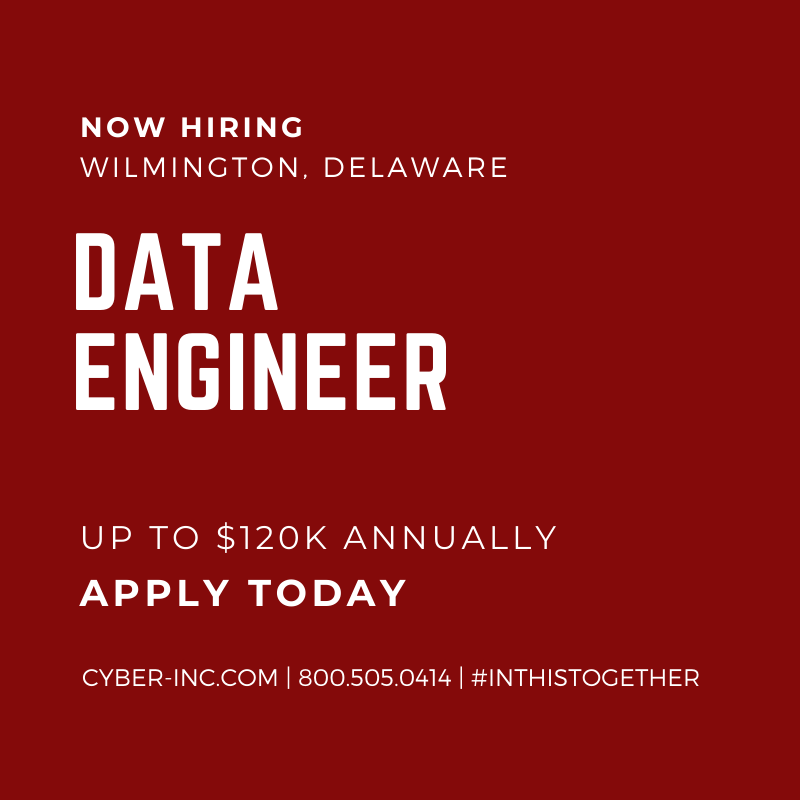 Data Engineer (SQL, AWS, Hadoop, Python) Delaware $120000