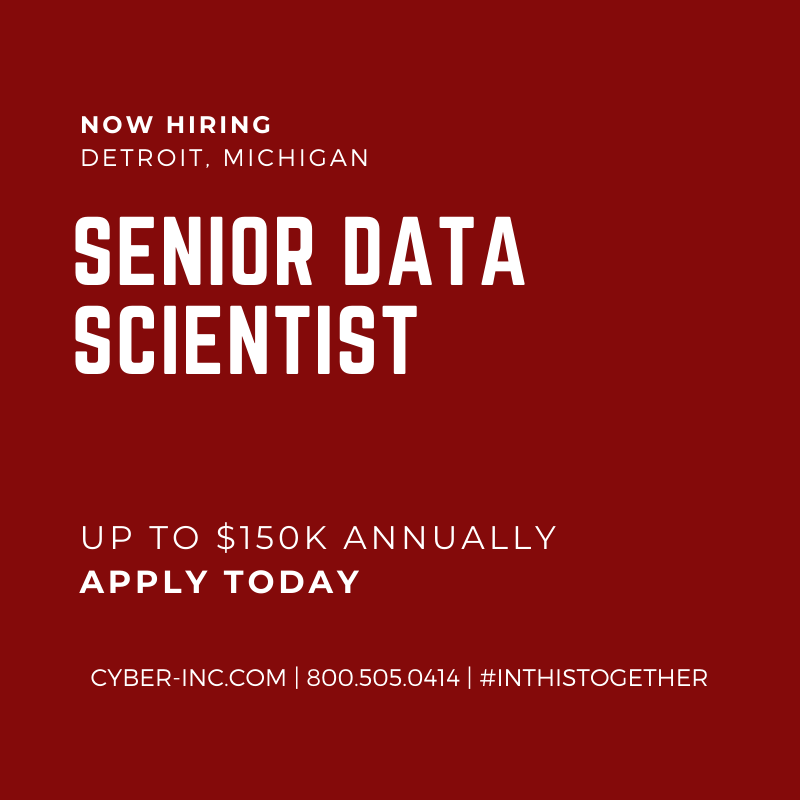 Senior Data Scientist Detroit MI Seeking Quantitative PhD