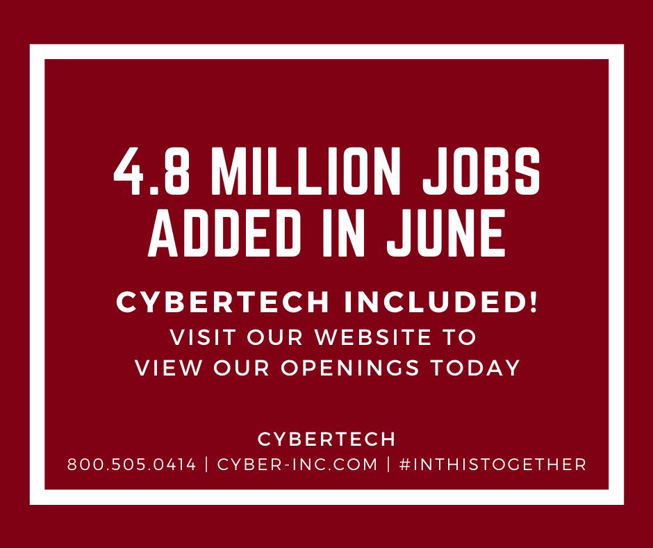 4.8 Million Jobs Added in June