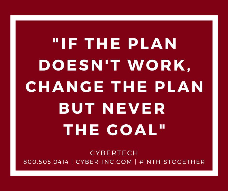 Monday Motivation Change Plan Not Goal