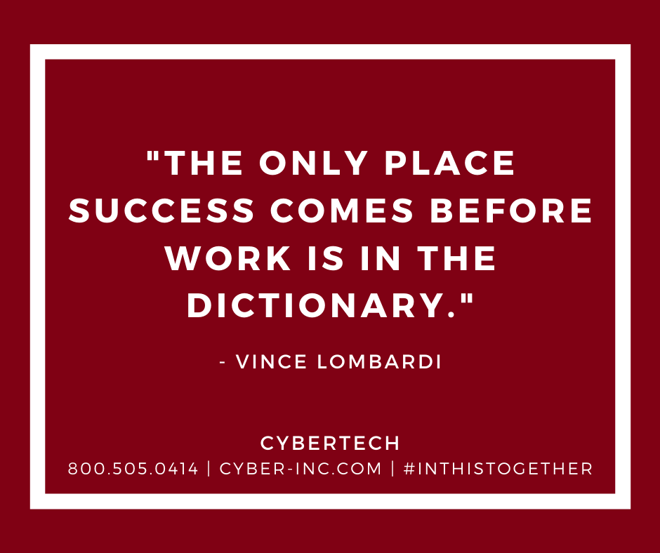 Monday Motivation Success comes from doing the Work