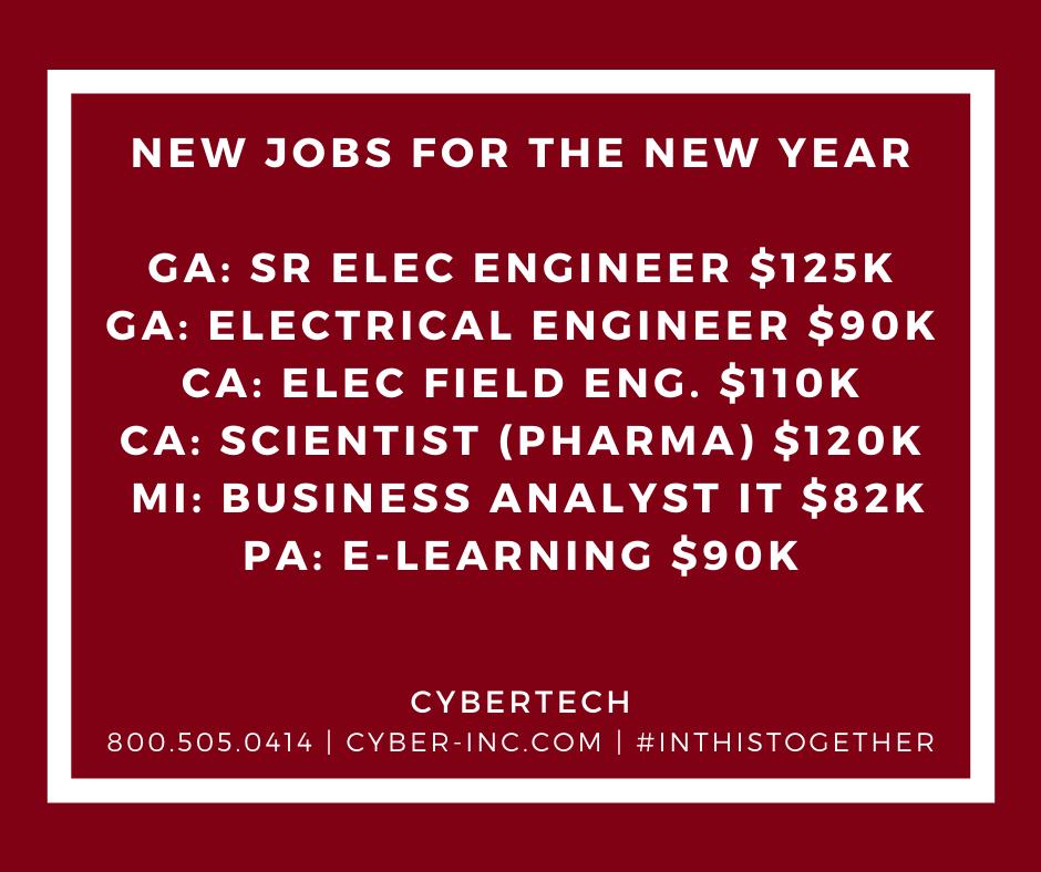 Cybertech New Jobs New Year
